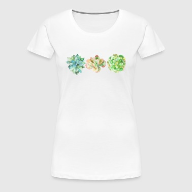Succulents - Women's Premium T-Shirt