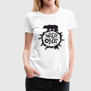 Wild One Shirt Unisex Wild One with Bear Vinyl Pri - Women's Premium T-Shirt