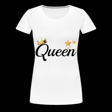 King & Queen Couples Matching Shirts - Women's Premium T-Shirt
