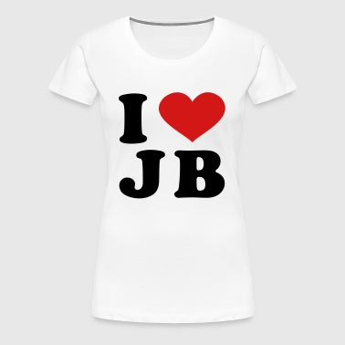 I Love jb - Women's Premium T-Shirt