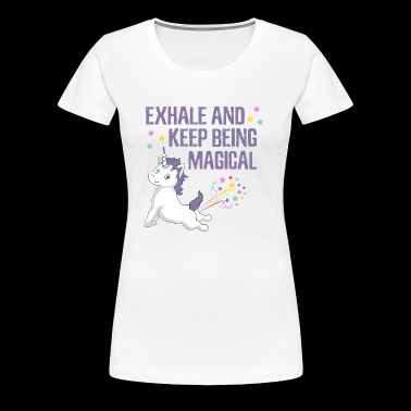 Cute Unicorn Yoga Quote T-Shirt Tee Funny GiftThis - Women's Premium T-Shirt