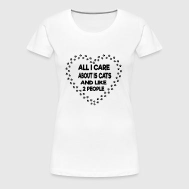 All i care about is cats - Women's Premium T-Shirt