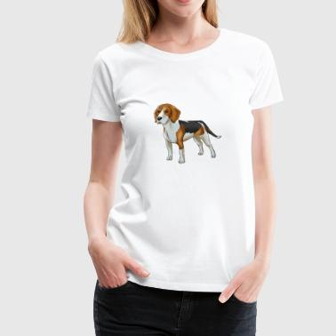 Beagle Dog Comic - Women's Premium T-Shirt