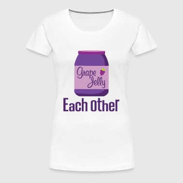 Couples Peanut Butter and Jelly Matching - Women's Premium T-Shirt