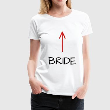 Team bride JGA bachelor party arrow - Women's Premium T-Shirt