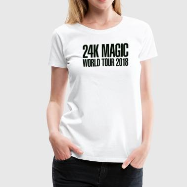 BRUNO MARS 24K MAGIC WORLD TOUR 2018 T-Shirt - Women's Premium T-Shirt