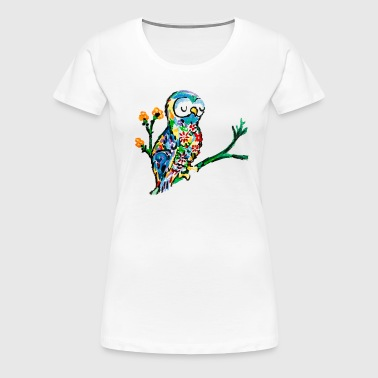colorful owl - Women's Premium T-Shirt