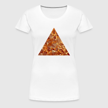 Triangle (Low Poly) - Women's Premium T-Shirt