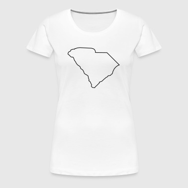 South Carolina,map,landmap,land,country,outline - Women's Premium T-Shirt
