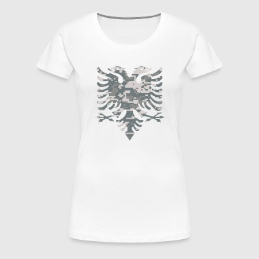 Albanian Flag Digital Camouflage - Women's Premium T-Shirt