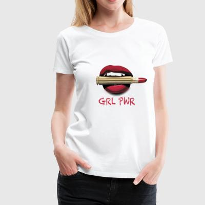 GIRL PWR Bullet Red Lipstick - Women's Premium T-Shirt