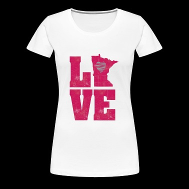 LOVE MN - Women's Premium T-Shirt
