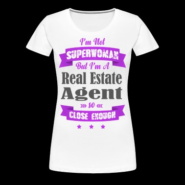 Not Superwoman, But A Real Estate Agent (Purple) - Women's Premium T-Shirt