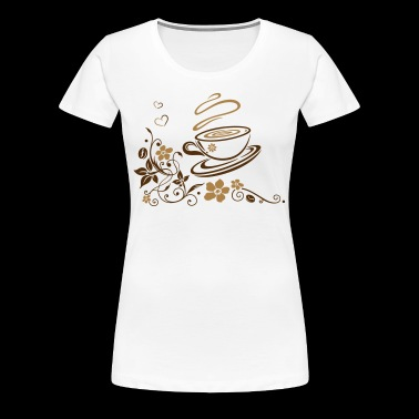 Coffee Cup with coffee beans - Women's Premium T-Shirt