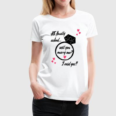 Will you marry me? - Women's Premium T-Shirt