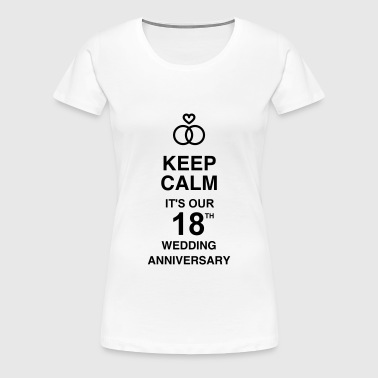 Marriage Mariage Wedding Anniversary 18 18th - Women's Premium T-Shirt
