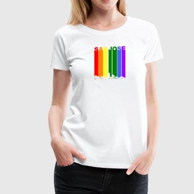 San Jose Skyline Rainbow LGBT Gay Pride - Women's Premium T-Shirt
