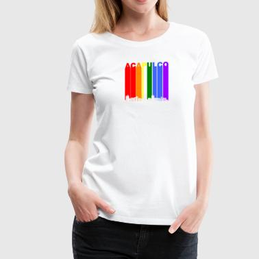 Acapulco Mexico Skyline Rainbow LGBT Gay Pride - Women's Premium T-Shirt