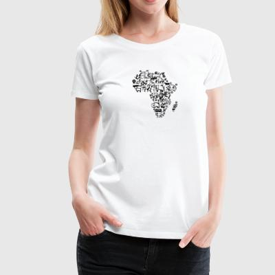 Abstract African Continent - Women's Premium T-Shirt