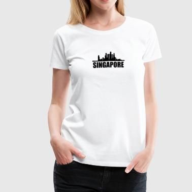 Singapore Skyline - Women's Premium T-Shirt