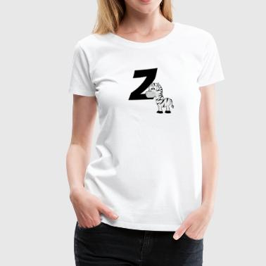 Z Is For Zebra - Women's Premium T-Shirt