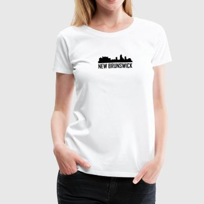 New Brunswick New Jersey City Skyline - Women's Premium T-Shirt