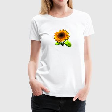 Sunflower farm plant food vector image cartoon art - Women's Premium T-Shirt