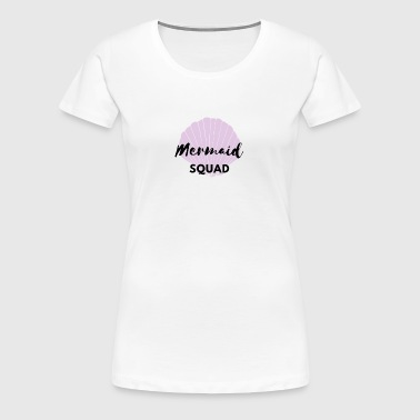Mermaid Squad Seashell Design - Women's Premium T-Shirt