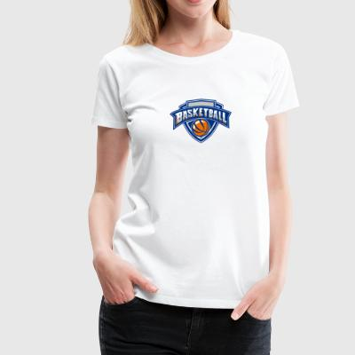 Basketball Ball Shield Text Retro - Women's Premium T-Shirt