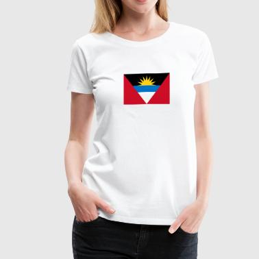 Flag of Antigua and Barbuda - Women's Premium T-Shirt