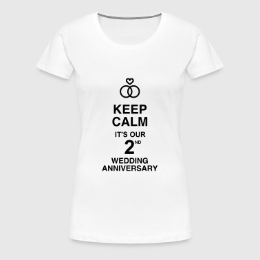 Marriage Mariage Wedding Anniversary 2 2nd Cotton - Women's Premium T-Shirt