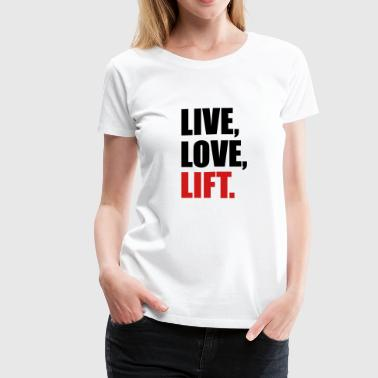 weight lifting - Women's Premium T-Shirt