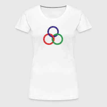 Triune God with RGB Rings - Women's Premium T-Shirt