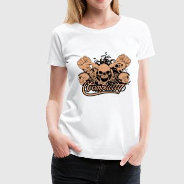 Skulls design - Women's Premium T-Shirt