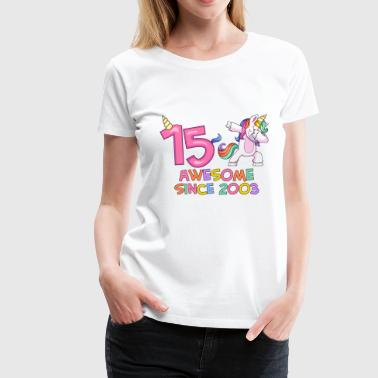 This Dabbing Unicorn Girls 10 th Birthday Shirt - Women's Premium T-Shirt