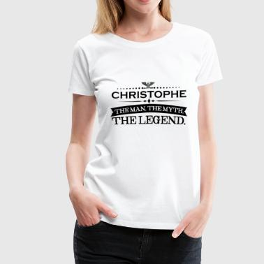 Mann mythos legende geschenk Christopher - Women's Premium T-Shirt