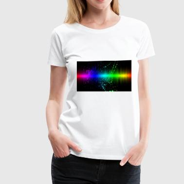 The Neon Splattered Night - Women's Premium T-Shirt