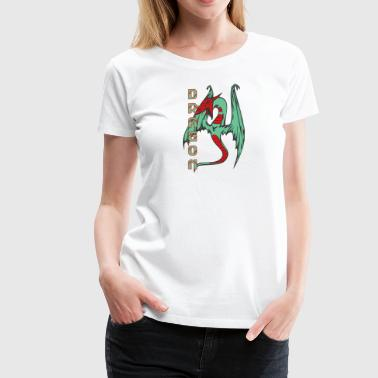 flying_dragon_long_tail_color - Women's Premium T-Shirt