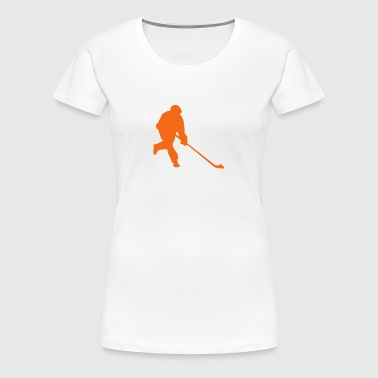street hockey player 2 - Women's Premium T-Shirt