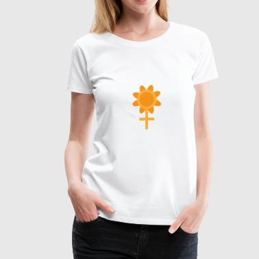 Flower and Women (Power of women) - Women's Premium T-Shirt