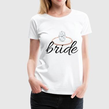 bride with ring - Women's Premium T-Shirt