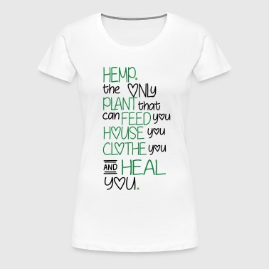 hemp heals - Women's Premium T-Shirt