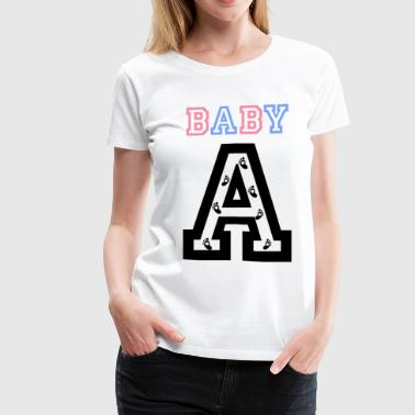 Twins - Baby gender reveal for baby A - Women's Premium T-Shirt