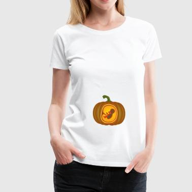 Pumpkin Pregnancy Maternity Expecting Shirt - Women's Premium T-Shirt