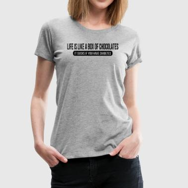 Life is Like a Box of Choholates FUNNY - Women's Premium T-Shirt