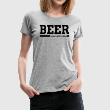 BEER SOLUTION TO ALL LIFE'S PROBLEMS - Women's Premium T-Shirt