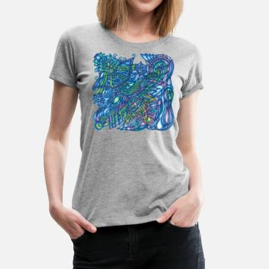 Handmade Nature Colorful organic abstract Art - Women's Premium T-Shirt