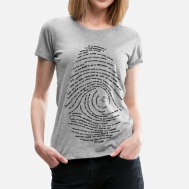 Darwin Darwin's Fingerprint by Tai's Tees - Women's Premium T-Shirt