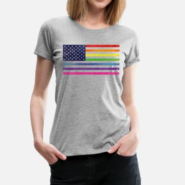 Open Marriage Pride USA Vintage Open - Women's Premium T-Shirt