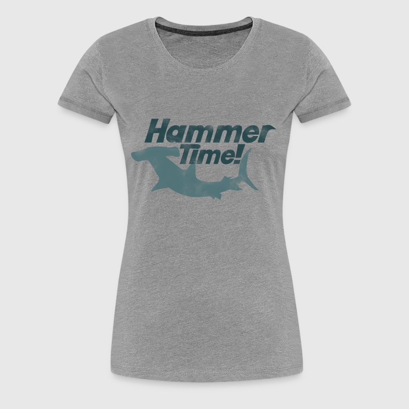 Hammer shark week time - Women's Premium T-Shirt